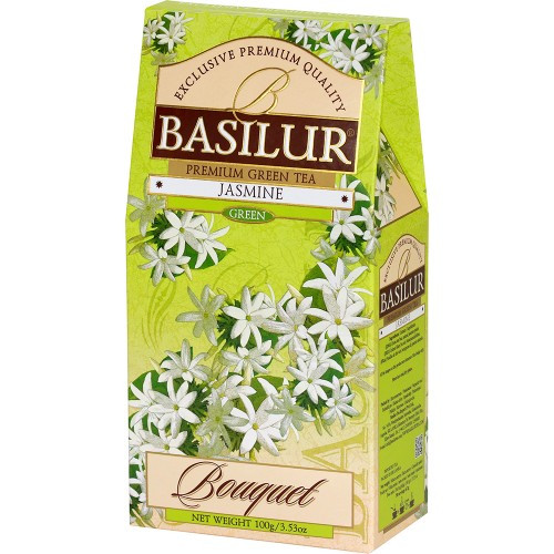 Чай зелёный рассыпной Букет Жасмин Jasmine, 100гр Basilur