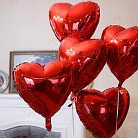Сердца фольгированные красные