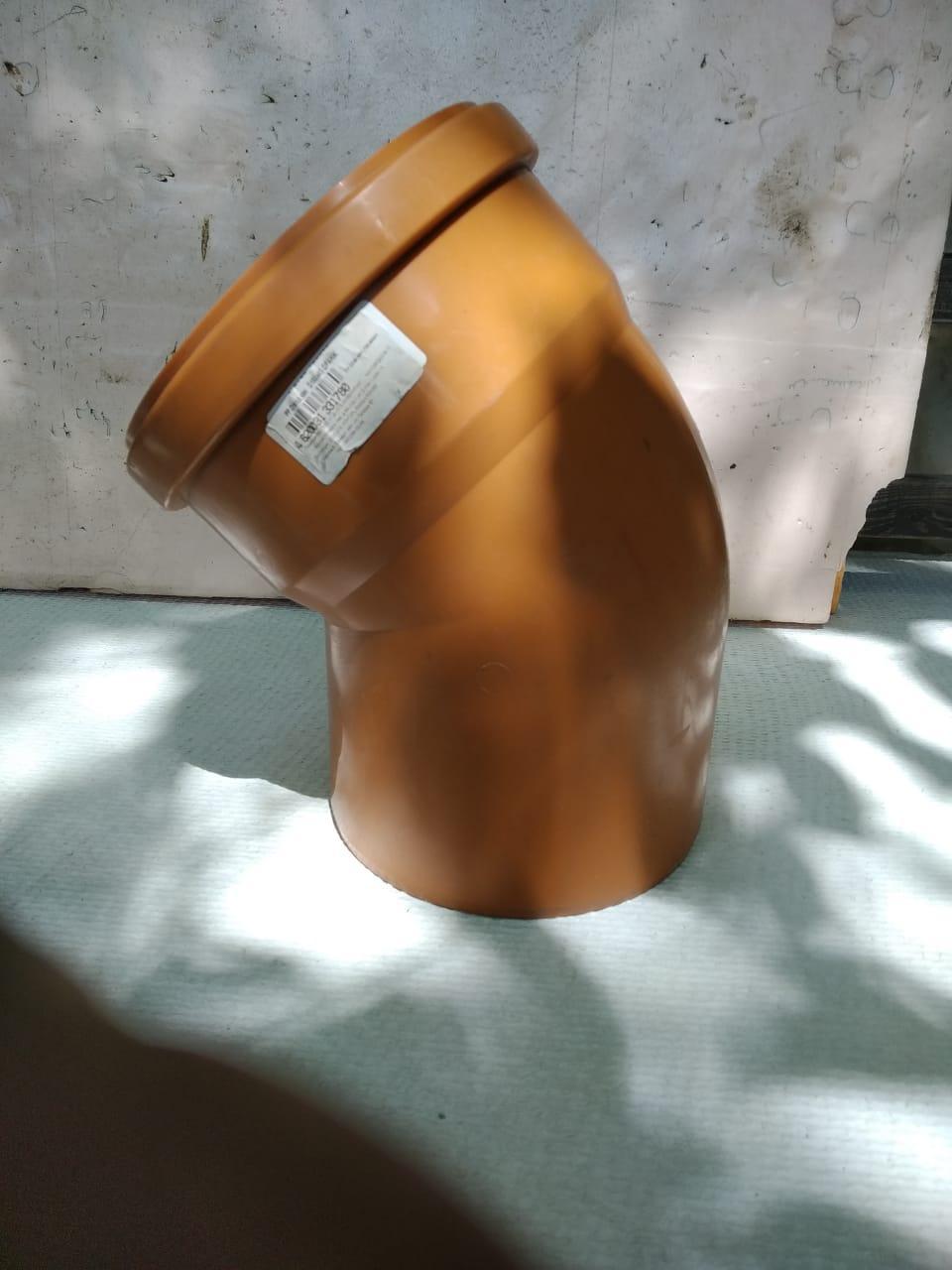 Отвод канализационный 160х15 оранжевый ПП