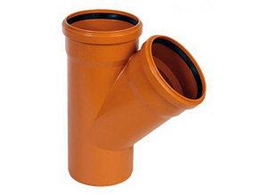 Тройник канализационный 160х160/45 оранжевый