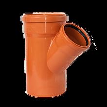 Тройник канализационный 160х110/45 оранжевый