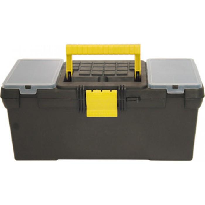 """Ящик для инструмента пластиковый 16"""" (39*20*17см) черный /65528/"""