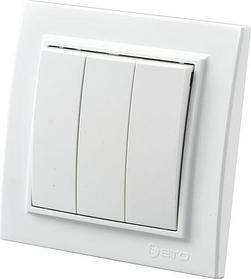 """Выключатель белый х3 Zera 700-0200-205 """"EGP"""""""