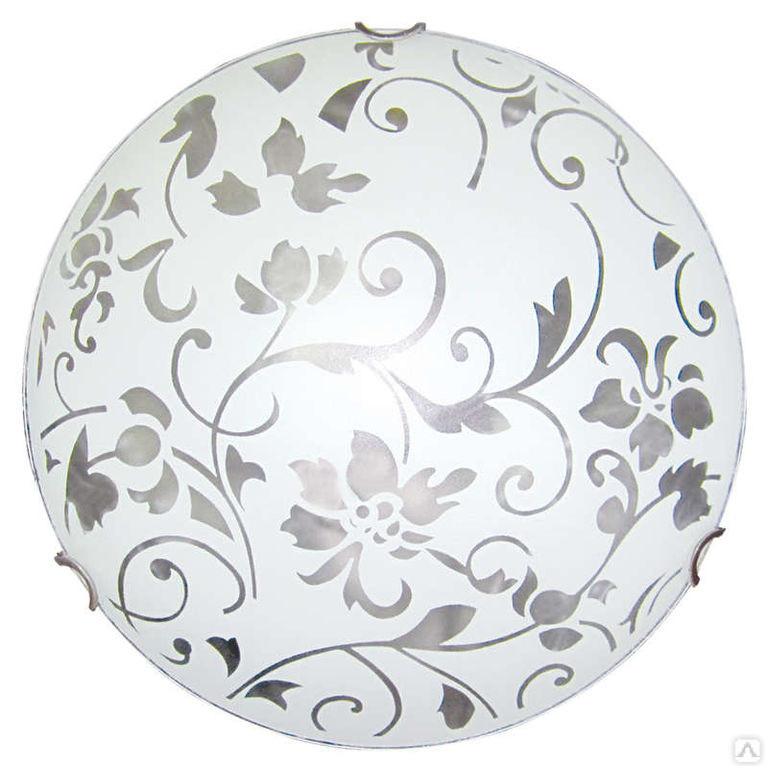 Светильник 300 Эрика НПБ 01-60-125 М02 матовый белый/кл.зол. MAXEL 00181