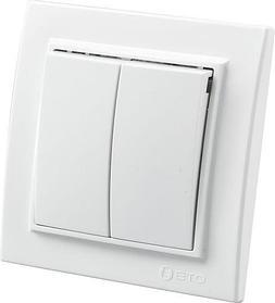 """Выключатель белый х2 Zera 700-0200-202 """"EGP"""""""