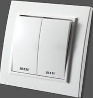 """Выключатель белый х2 с/п Zera 700-0200-203 """"EGP"""""""
