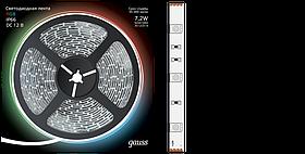Лента LED 5050-SMD 7,2W 12V DC RGB IP66 (блистер 5м) Gauss /311000407/