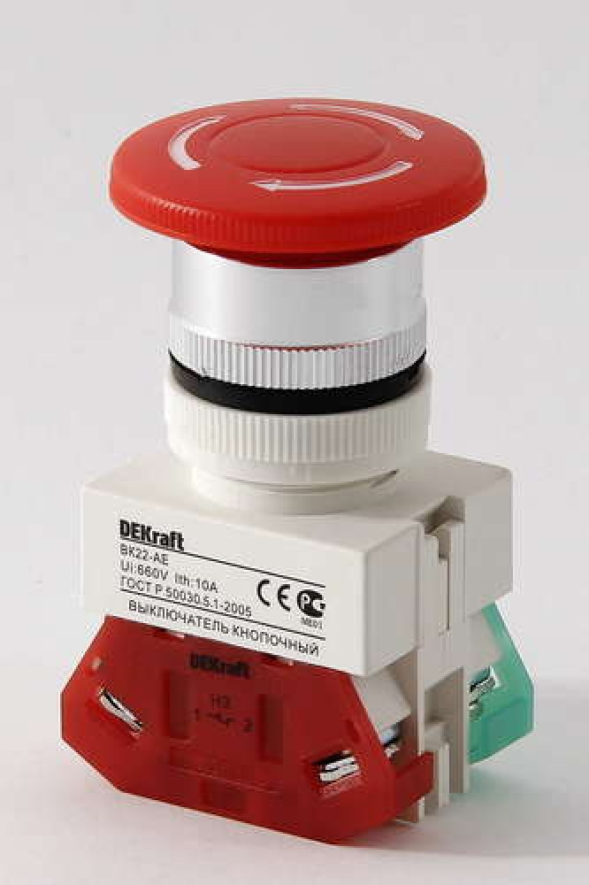 Выключатель кноп. ВК22-AEAL-RED /25040DEK/