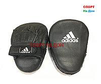 Лапы для отработки ударов руками Adidas кожа (черный)