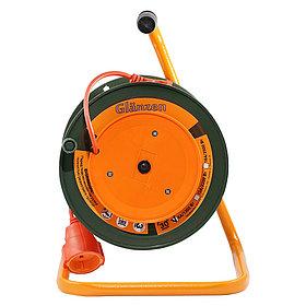 Удлинитель силовой на катушке с выносной розеткой GLANZEN ПВС 2*0,75 арт. EB-30-001