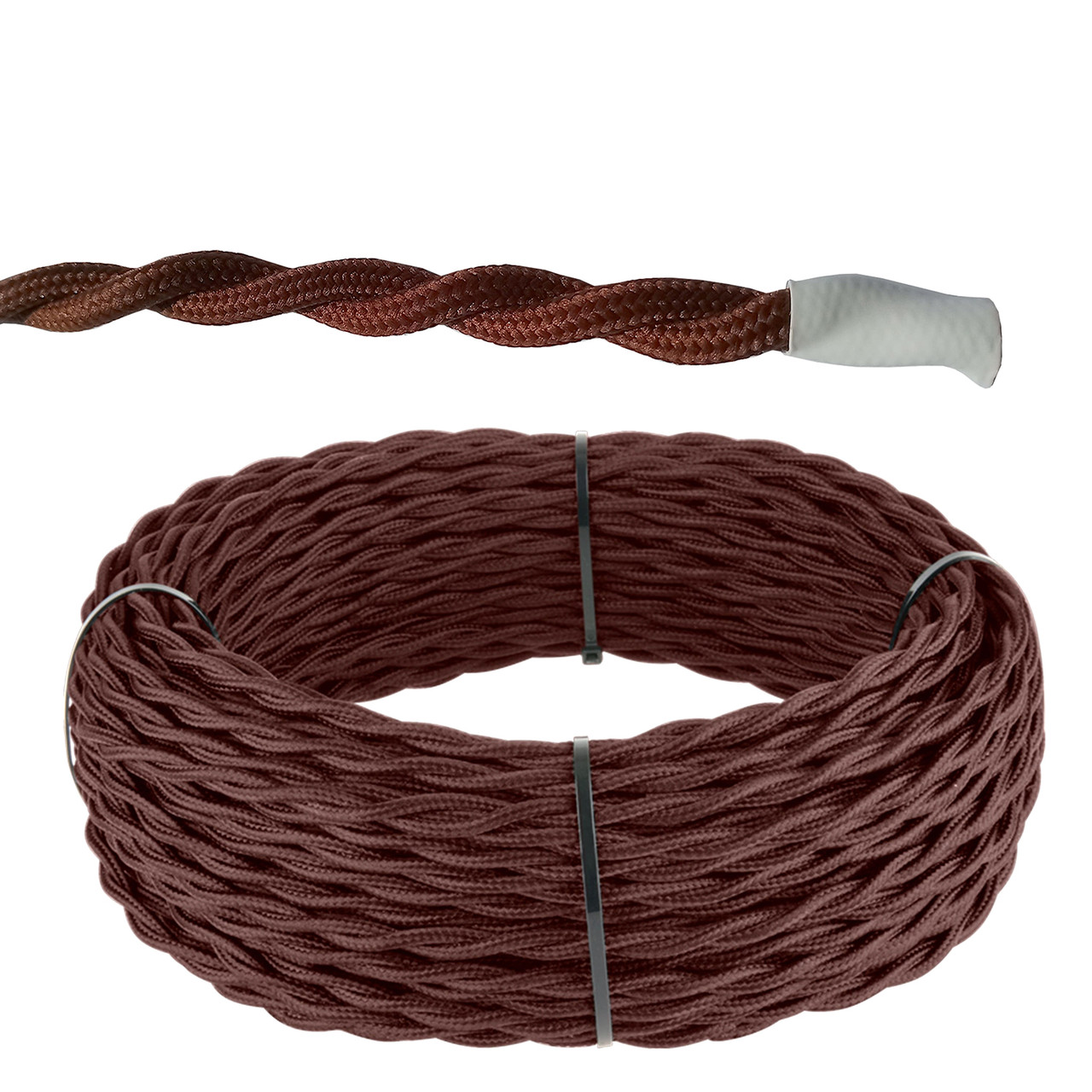 Кабель витой 2*2,5 (коричневый) Ретро