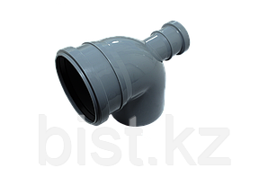 Отвод канализационный 110х90 с фронт. выходом 50 ПП