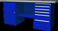 OWB2-16 Верстак с двумя тумбами, тумба с одной дверцей и тумба с 6 ящиками (состав: OWB-1000B, OWB-0106B, OWB-0219, OWB-0419B)
