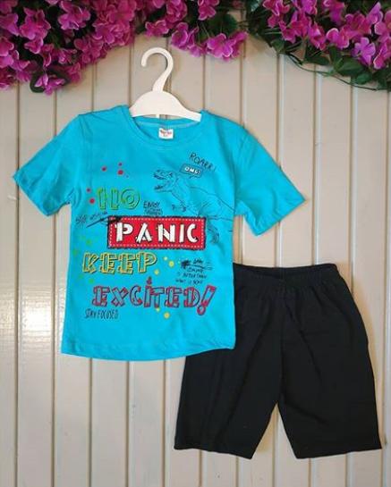 Костюм летний Picnic, цвет голубой, 3 и 4 годика