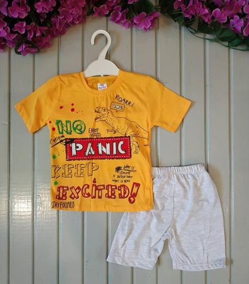 Костюм летний Picnic, цвет желтый, 3 года