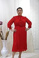Платье из шифона в красном цвете. 48