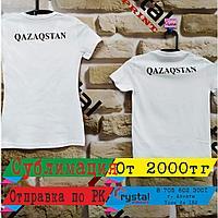 Сублимационная печать на белых футболках