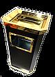 Урна пепельница GL025 (черная-золото), фото 2