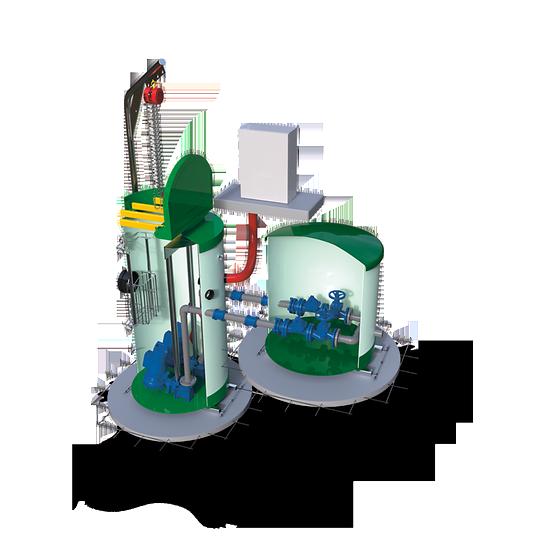 Водоподъемные фекальные установки / Канализационные насосные станции SRP