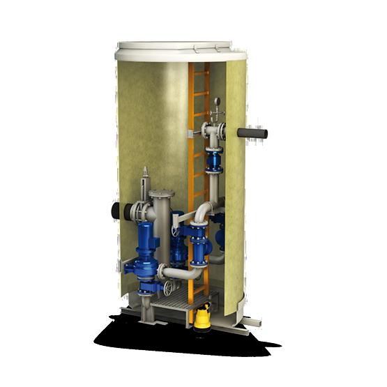 Водоподъемные фекальные установки / Канализационные насосные станции SRL