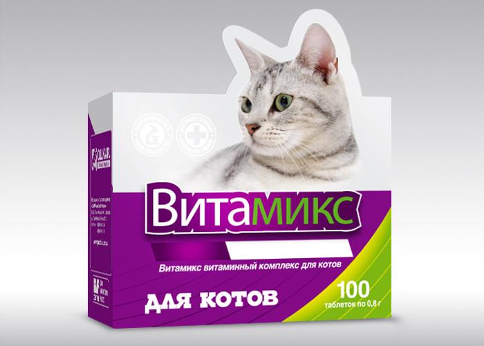 Витамикс 100таб витамины для кошек