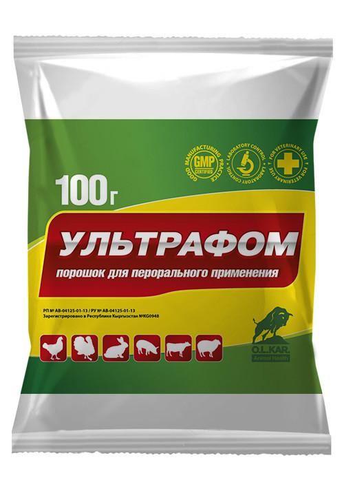 Ультрафом 20г порошок  ( колистин сульфат, окситетрациклин г/х, триметоприм )