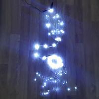 """Световая LED гирлянда """"Коса"""" (капли росы) - 3,9 метра, 10 нитей, 390 лампочек, белый свет"""