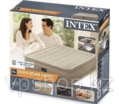 Надувная кровать двуспальная 152х203х46 см с эл.насосом Intex 64428