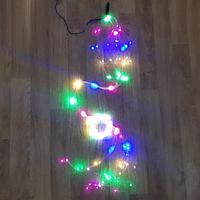 "Световая гирлянда ""Коса"" (капли росы) - 3,9 метра, 10 нитей, 390 лампочек, разноцветная (RGB)"