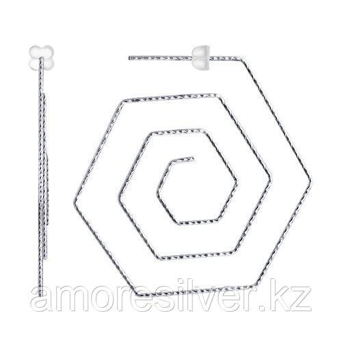 Серьги из серебра с алмазной гранью  SOKOLOV 94024275
