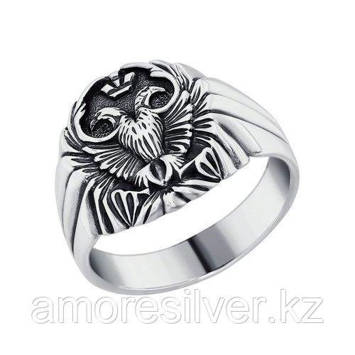 Печатка из чернёного серебра  SOKOLOV 95010038