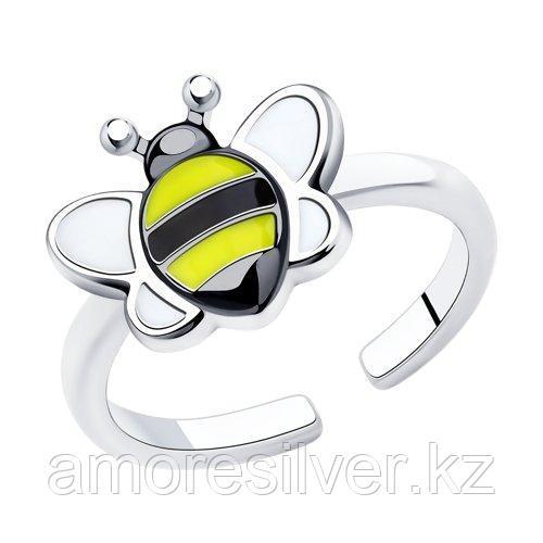 Кольцо из серебра с эмалью   SOKOLOV 94013167 размеры - 14 15 16