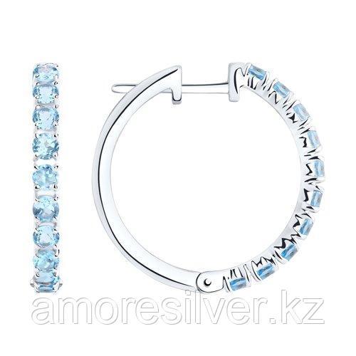 Серьги из серебра с топазами   SOKOLOV 92022140