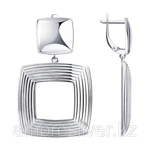 Серьги из серебра  SOKOLOV 94024201