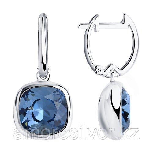 Серьги из серебра с кристаллами Swarovski    SOKOLOV 94024167