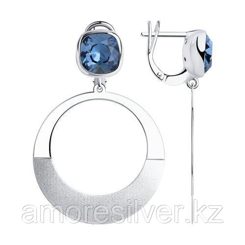 Серьги из серебра с кристаллами Swarovski    SOKOLOV 94024166