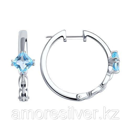 Серьги из серебра с топазами   SOKOLOV 92022300