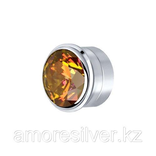 Вставка из серебра с коньячным    SOKOLOV 81030141