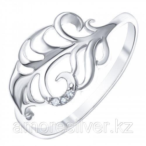 Кольцо из серебра с фианитом  Золотые узоры  17  90-01-6007-00