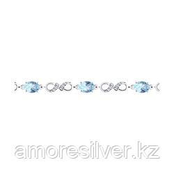 Браслет из серебра с топазом и фианитом   SOKOLOV 94-350-00586-1