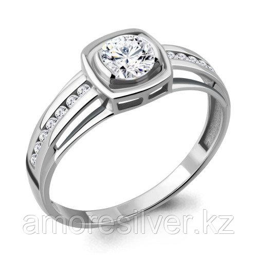 Кольцо из серебра с фианитом сваровски Aquamarine 66570А