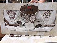 Комплект банных халатов с полотенцами Nurpak, фото 4