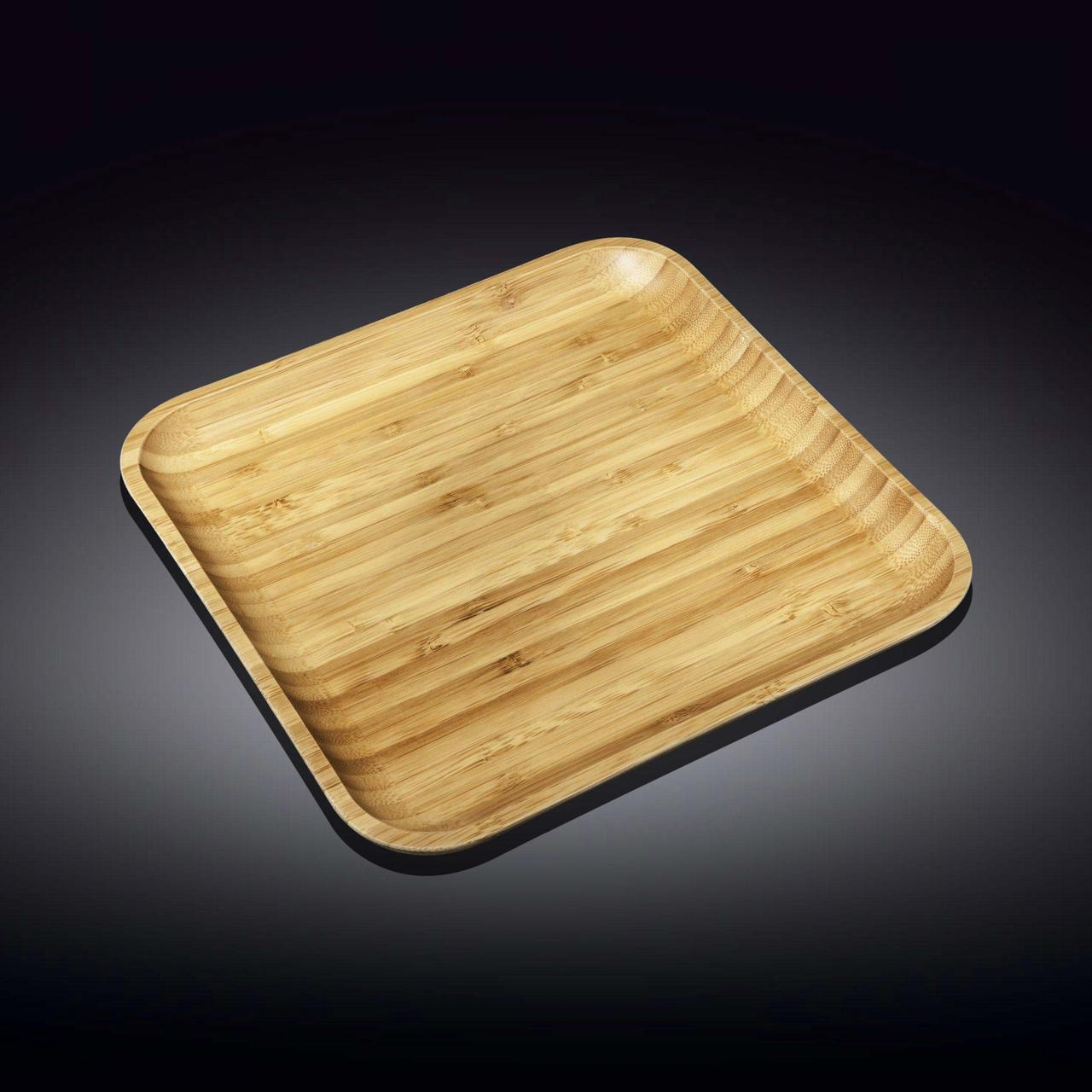 Сервировочное блюдо 33 x 33 см Wilmax бамбуковое квадратное