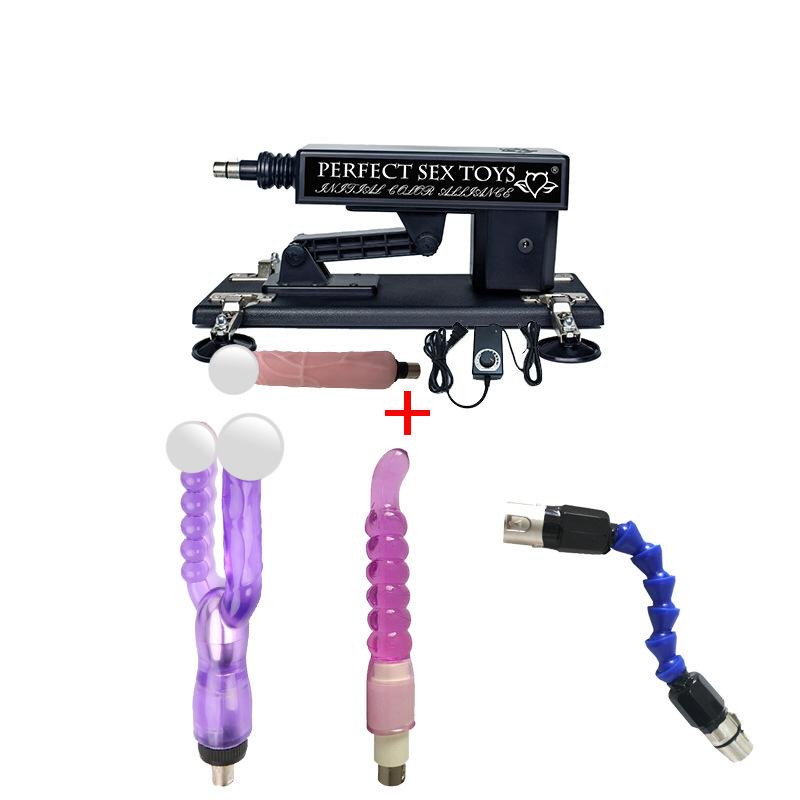 Секс-машина с фаллоимитатором + анальная насадка + анально-вагинальная насадка + стержень для увеличения шага