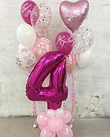 Красивые Гелиевые шарики на День Рождение для девочки