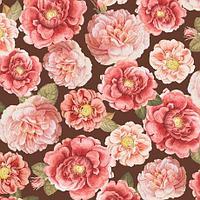 """Ткань для пэчворка 100% хлопок из серии """"Rosehill"""" крупные цветы"""