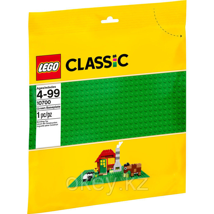 LEGO Classic: Строительная пластина зеленого цвета 10700