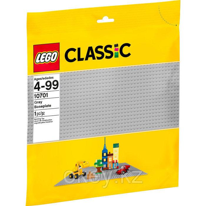 LEGO Classic: Строительная пластина серого цвета 48×48 точек 10701