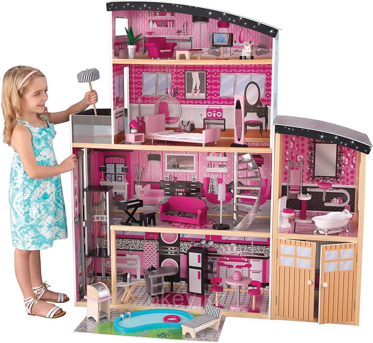 KidKraft: Большой кукольный дом Сияние с мебелью 65826_KE