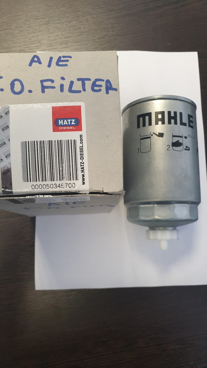 D85/H128(M16x1,5)  HATZ 50345700 Топливный фильтр с сливом